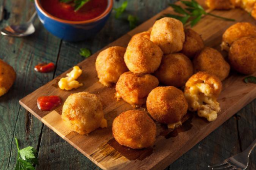 Keto Fried Mac & Cheese