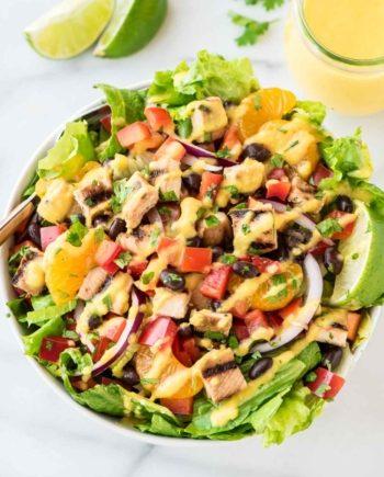 Low Carb Chicken Enchilada Mango Salad