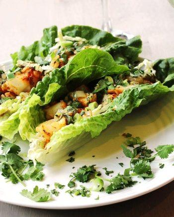 Low Carb Fish Taco Lettuce Wraps