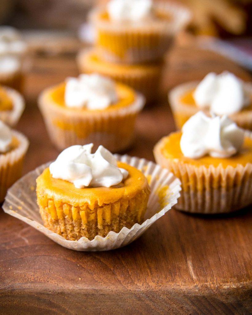 Low Carb Pumpkin Cheesecake Bites