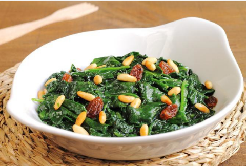 Low Carb Sautéed Spinach with Cashews