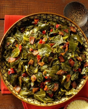 Low Carb Smoked Collard Greens