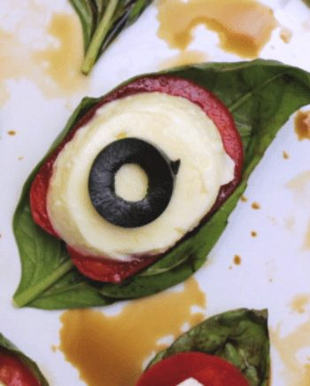 Low Carb Spooky Caprese Salad