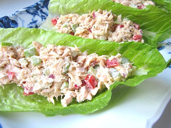 Low Carb Tuna Salad Roll Ups