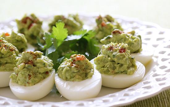 Low Carb Avocado Deviled Eggs
